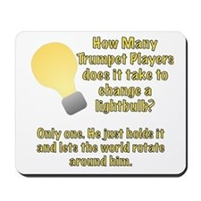 Trumpet player lightbulb joke Mousepad