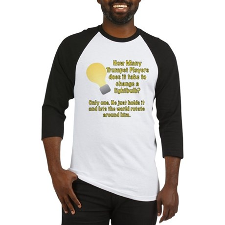 Trumpet player lightbulb joke Baseball Jersey