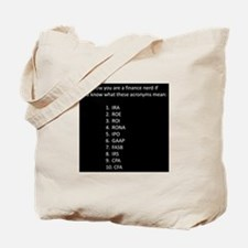 Finance Nerd Acronyms Tote Bag