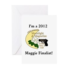Maggie Finalist Moon Magnolias Greeting Card