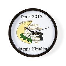 Maggie Finalist Moon Magnolias Wall Clock