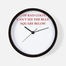 GOLFERS Wall Clock
