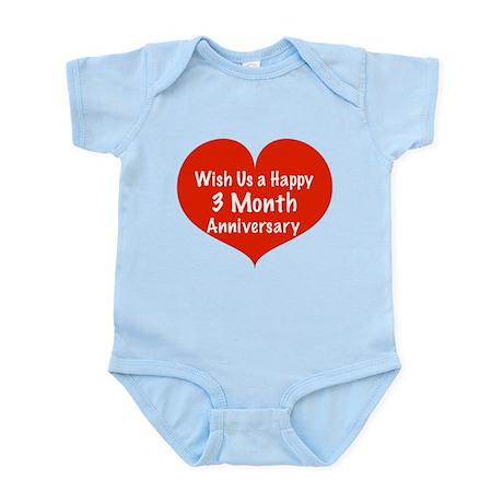 Wish us a Happy 3 month Anniversary Infant Bodysui
