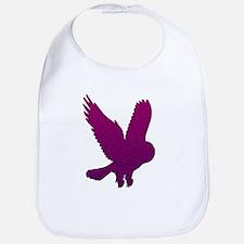 Purple Owl in Flight Mosaic Bib
