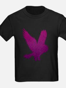 Purple Owl in Flight Mosaic T
