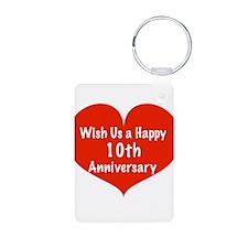Wish us a Happy 10th Anniversary Keychains