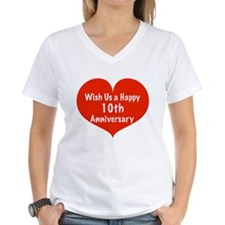 Wish us a Happy 10th Anniversary Shirt