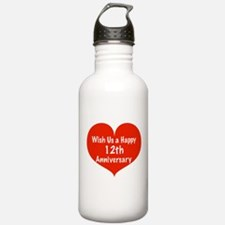 Wish us a Happy 12th Anniversary Water Bottle