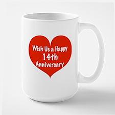 Wish us a Happy 14th Anniversary Mug