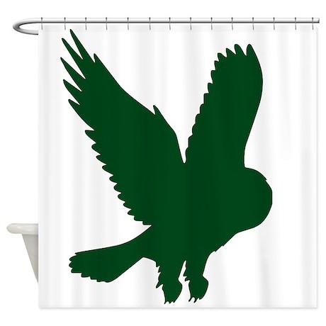 28 Dark Green Shower Curtain By