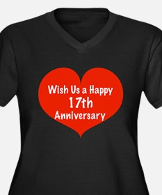 Wish us a Happy 17th Anniversary Women's Plus Size