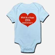 Wish us a Happy 25th Anniversary Infant Bodysuit