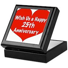 Wish us a Happy 25th Anniversary Keepsake Box