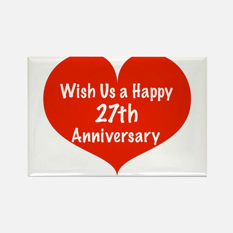 Wedding Anniversary Gifts 27th Year : 27Th Wedding Anniversary 27th Wedding Anniversary Magnets 27th ...