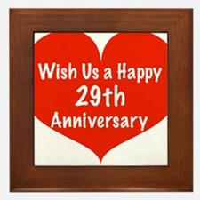 Wish us a Happy 29th Anniversary Framed Tile