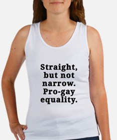 Straight, pro-gay equality - Women's Tank Top