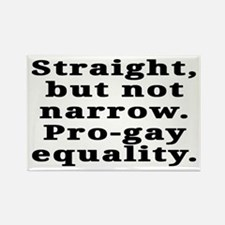 Straight, pro-gay equality - Rectangle Magnet