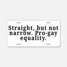 Straight, pro-gay equality - Aluminum License Plat