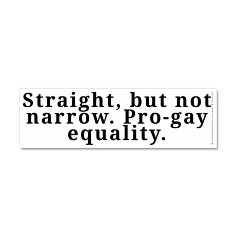 Straight, pro-gay equality - Car Magnet 10 x 3