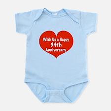 Wish us a Happy 34th Anniversary Infant Bodysuit