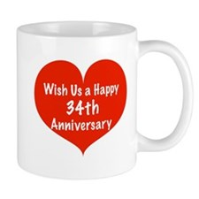 Wish us a Happy 34th Anniversary Mug
