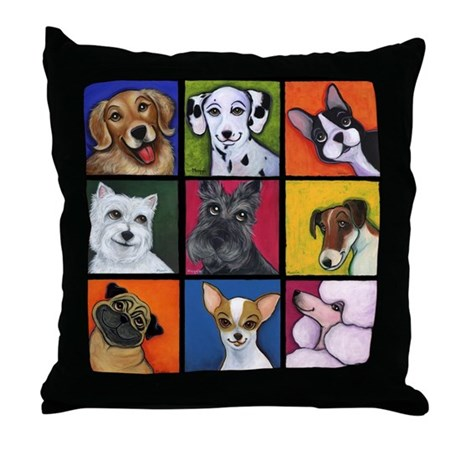 Maggie's Angels Dogs Throw Pillow