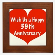 Wish us a Happy 39th Anniversary Framed Tile