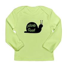 Slow Food Snail Long Sleeve Infant T-Shirt