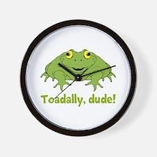 Toadally Dude Wall Clock