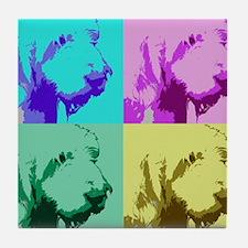 Spinone a la Warhol 2 Tile Coaster