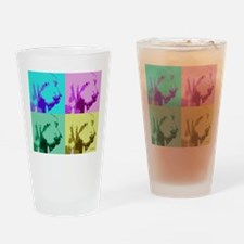 Spinone a la Warhol 2 Drinking Glass