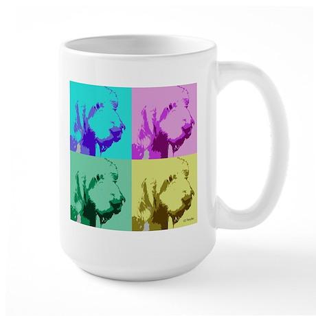 Spinone a la Warhol 2 Large Mug