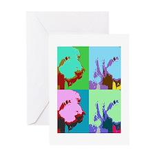 Spinone a la Warhol 3 Greeting Card