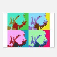 Spinone a la Warhol 3 Postcards (Package of 8)