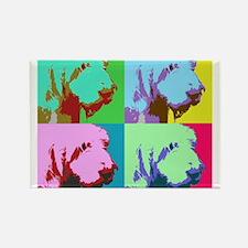 Spinone a la Warhol 3 Rectangle Magnet