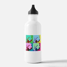 Spinone a la Warhol 3 Water Bottle