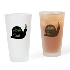 Slow Food Snail Drinking Glass