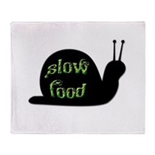 Slow Food Snail Throw Blanket