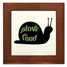 Slow Food Snail Framed Tile