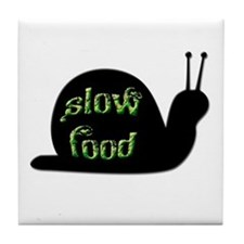 Slow Food Snail Tile Coaster