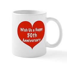 Wish us a Happy 50th Anniversary Mug