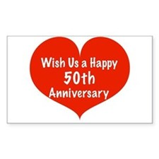 Wish us a Happy 50th Anniversary Decal