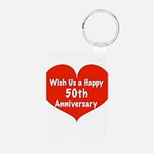 Wish us a Happy 50th Anniversary Keychains