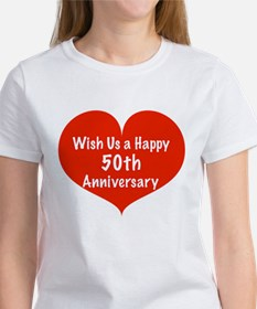 Wish us a Happy 50th Anniversary Women's T-Shirt