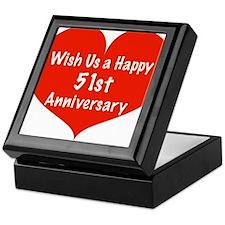 Wish us a Happy 51st Anniversary Keepsake Box