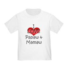 I Love Papaw & Mamaw T