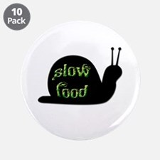 "Slow Food Snail 3.5"" Button (10 pack)"