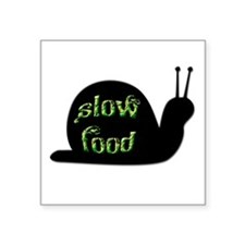 "Slow Food Snail Square Sticker 3"" x 3"""
