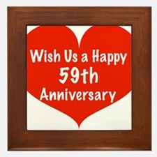 Wish us a Happy 59th Anniversary Framed Tile