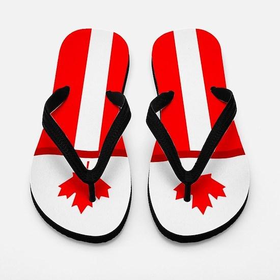 Canadian Canada Flag Flip Flops